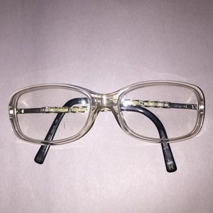 authentic CHANEL chainlink READING GLASS frames CC